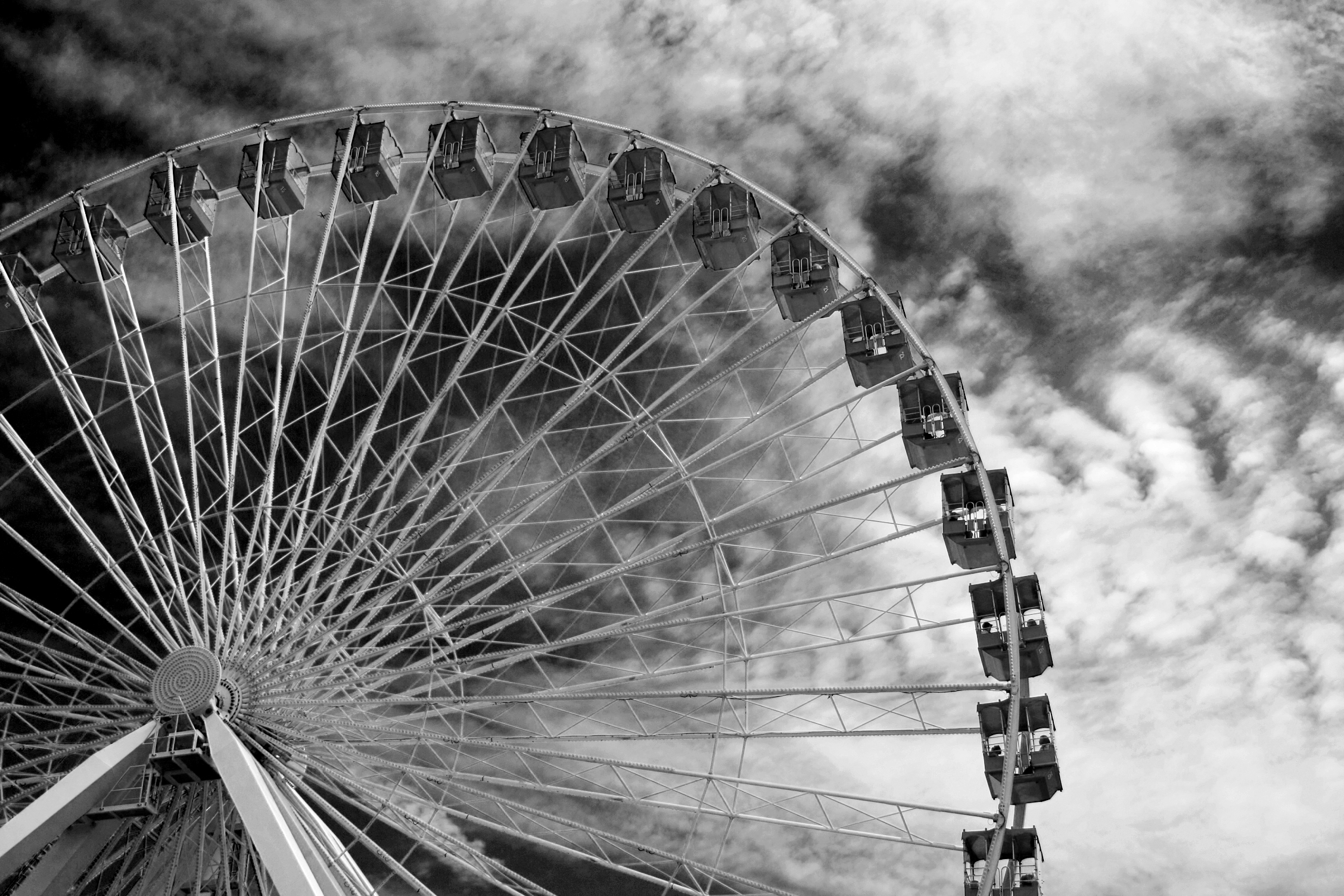 Ferris Wheel Photography Black And White Black And White Ferris Wheel